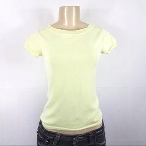 BANANA REPUBLIC Lemon Lime Casual Stretch Shirt XS